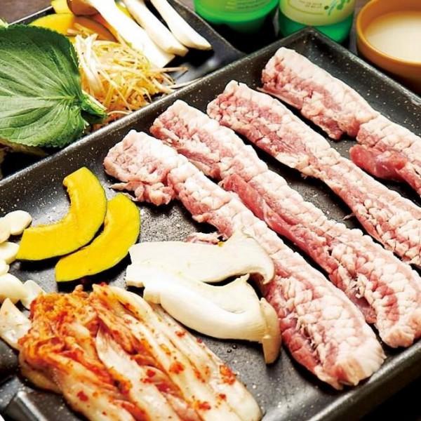 特上生サムギョプサル+野菜セット付 1,280円